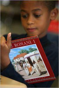 Aluno de latim com 10 anos, New Rochelle
