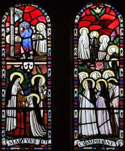 Vitral em honra das monjas mártires.